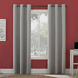 Sun Zero Miles Total Blackout 96-Inch Grommet Window Curtain Panel in Sterling