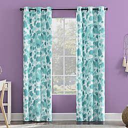 Sun Zero Tie Dye Print Total Blackout Grommet Window Curtain Panel
