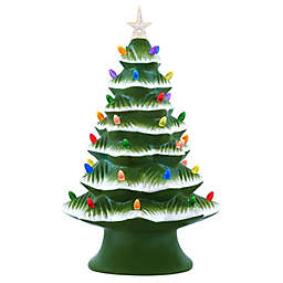 H For Happy™ 14.75-Inch Vintage LED Christmas Tree Figurine in Green