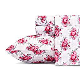 Betsy Johnson® Skull Rose Trellis Full Sheet Set in Bright Red