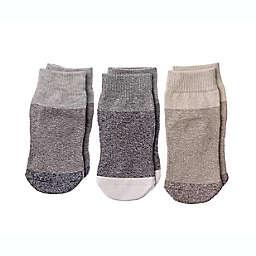 Squid Socks® 3-Pack Caelan Socks in Grey/Brown