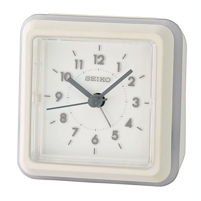 Alternate image 1 for Seiko Gradation Alarm Clock in White