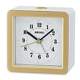 Seiko Bedside LED Alarm Clock in White