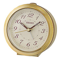 Seiko Bedside Alarm Clock in Gold