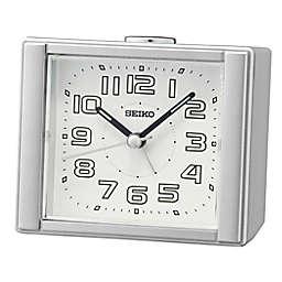 Seiko Square Bedside Alarm Clock in Silver