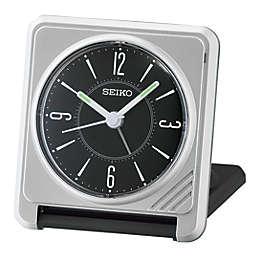Seiko Travel Alarm Clock in Silver