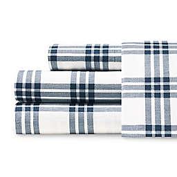 Eddie Bauer® Basic Plaid Full Sheet Set in Navy