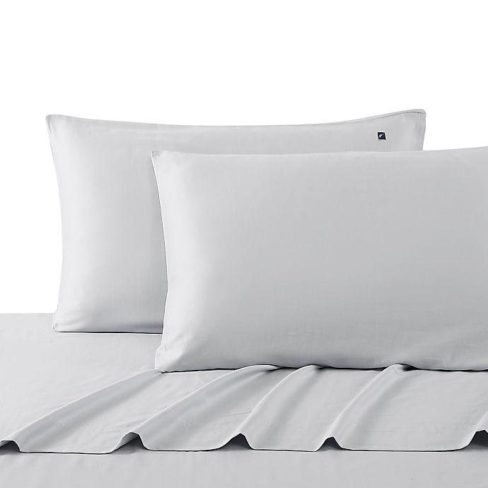 Alternate image 1 for Nautica® Oceane Wellness Solid Queen Sheet Set in Grey