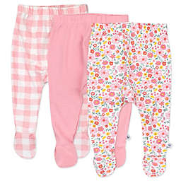 The Honest Company® Size 6-9M 3-Pack Fall Floral Organic Cotton Footed Harem Pants