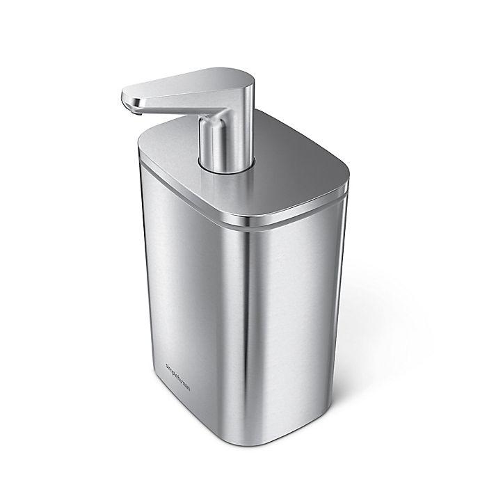 Alternate image 1 for simplehuman® Stainless Steel Pulse Pump Soap Dispenser
