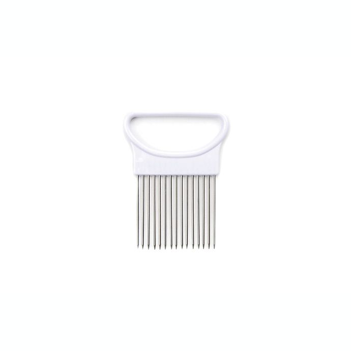 Alternate image 1 for Fox Run Brands™ Stainless Steel Onion Holder with White Handle