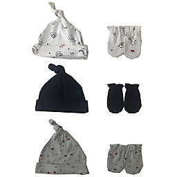 Sterling Baby 9-Piece Dino Hat and Mitten Set in White/Blue