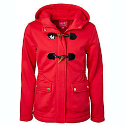 Pink Platinum Size 4T Toggle Fleece Jacket in Red