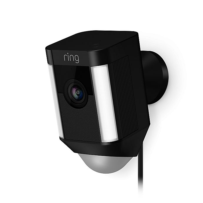 Alternate image 1 for Ring Spotlight Wired Security Camera in Black