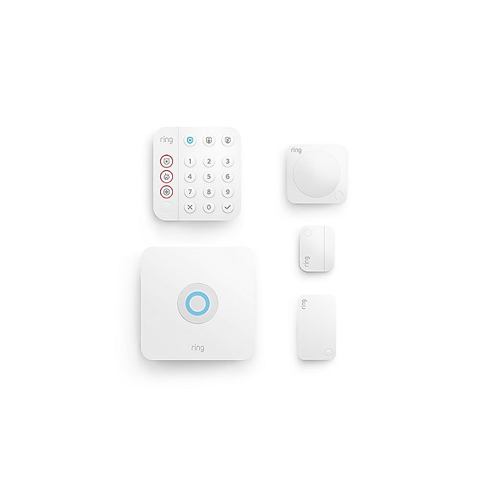 Alternate image 1 for Ring 5-Piece Alarm Home Security Kit in White