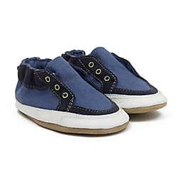 Robeez® Size 12-18M Stylish Steve Sneaker in Dark Blue/Yellow