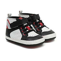 Robeez® Mikey Sneaker in Black/Red