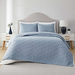 VCNY Home Ring Textured Cotton 3-Piece Quilt Set