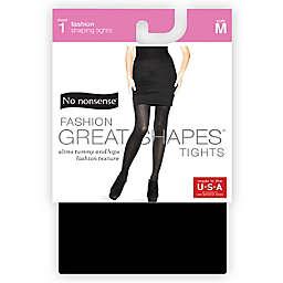 No Nonsense® Medium Women's Shapes Diamond Texture Control Top Tight in Black
