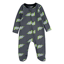 Nike® Thunder Block Footed Coverall in Grey/Yellow