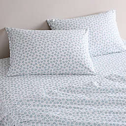 City Scene® Payson Floral Cotton Percale Sheet Set in Light Green