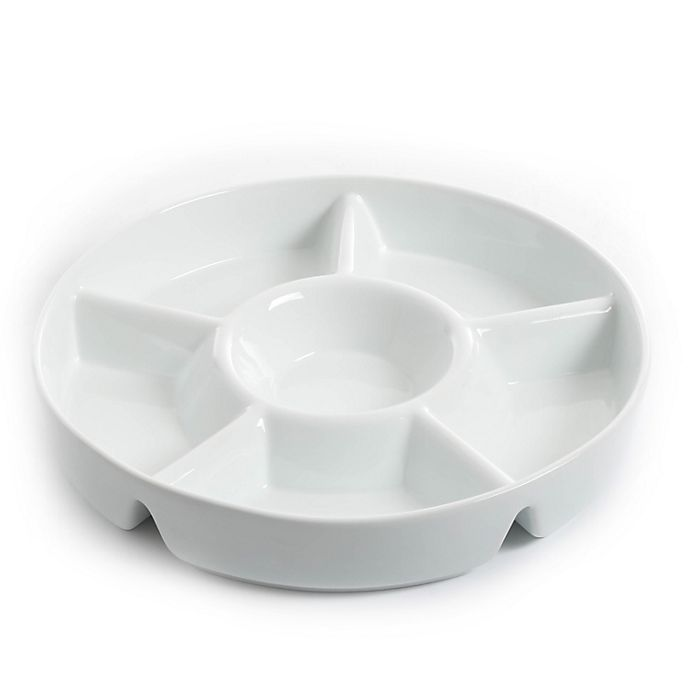 Alternate image 1 for Our Table™ Simply White Chip and Dip Server