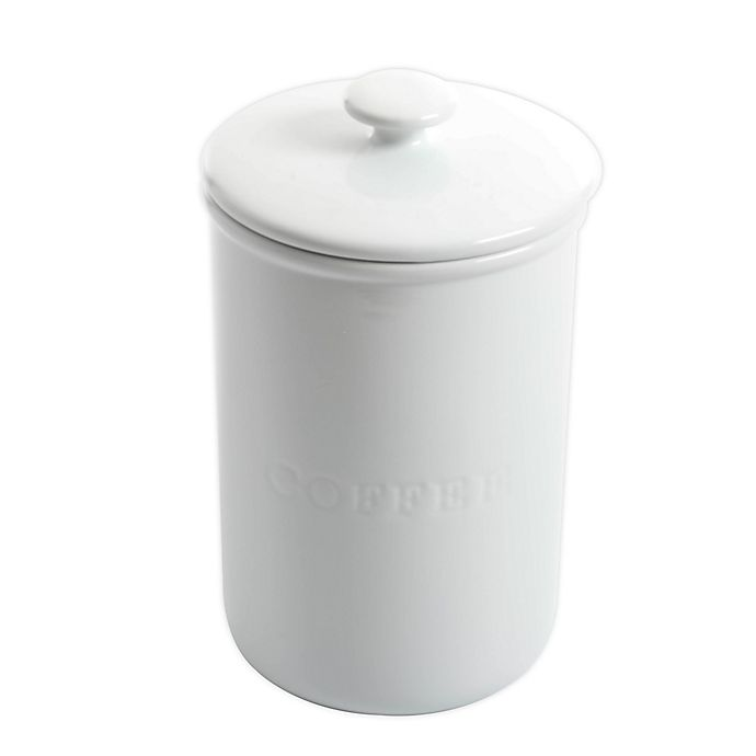 Alternate image 1 for Our Table™ Simply White Coffee Canister
