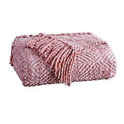 Tahari Home Allie Geo Throw Blanket in Pink