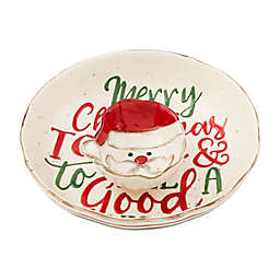 Mud Pie® 2-Piece Farm Christmas Chip and Dip Set in Ivory