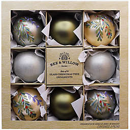Bee & Willow™ 8-Pack 3.15-Inch Glass Christmas Ornaments