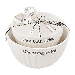 Mud Pie® 4-Piece Circa Side Bowl Set in White