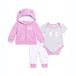 Under Armour® 3-Piece Kitty Logo Pant Set in Purple/Grey