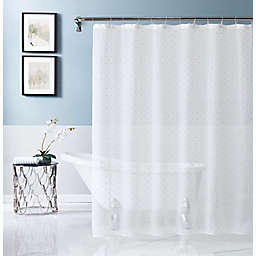 Dainty Home 70-Inch x 72-Inch Sprinkles Embellished Shower Curtain in Gold