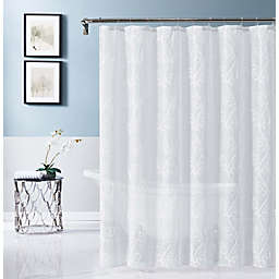 Dainty Home 70-Inch x 72-Inch Stella Embroidered Shower Curtain