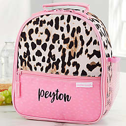 Leopard Print Embroidered Lunch Bag