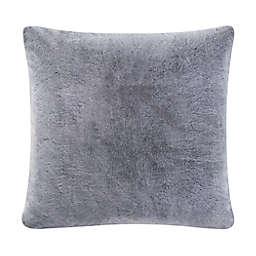 UGG® Dawson Faux Fur European Pillow Sham in Charcoal