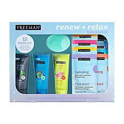 Freeman® 12-Piece Renew + Relax Face Mask Kit