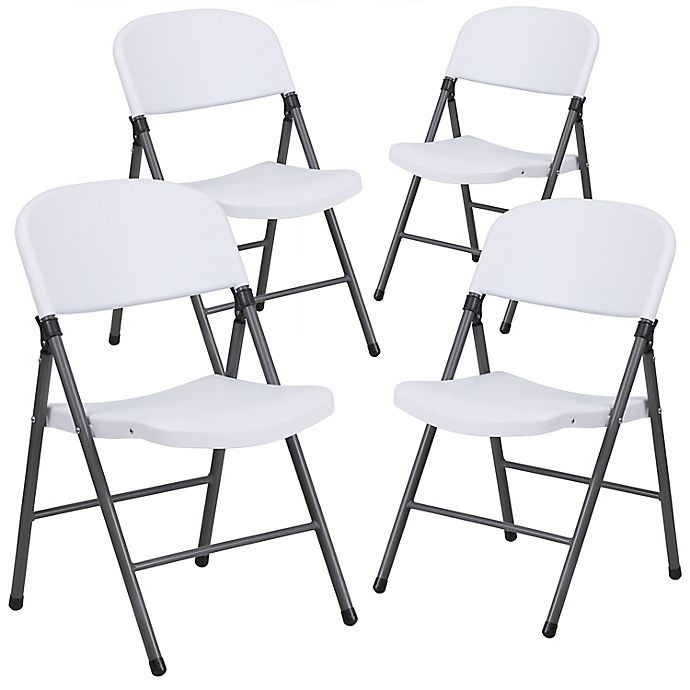 Alternate image 1 for Flash Furniture Plastic Folding Chairs (Set of 4)