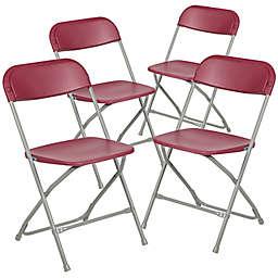 Flash Furniture Plastic Folding Chairs (Set of 4)