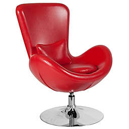 Flash Furniture Egg Series Reception Leather Lounge Side Chair