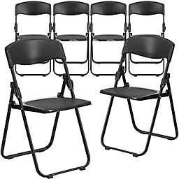 Flash Furniture Plastic Folding Chairs (Set of 6)
