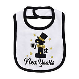 """Baby Starters® """"My First New Year's"""" Holiday Bib in White"""