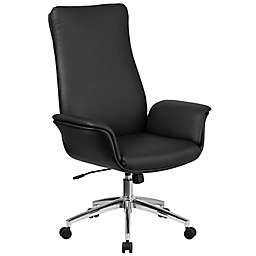 Flash Furniture High-Back Leather Office Chair in Black