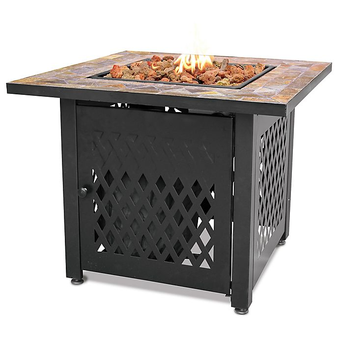 Alternate image 1 for UniFlame® Endless Summer® LP Gas Fire Pit with Slate Tile Mantel