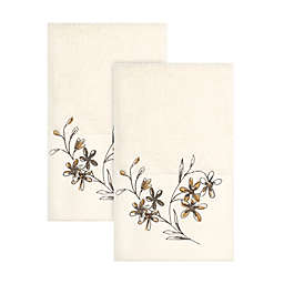 Bee & Willow™ Embroidered Floral Vine Hand Towels in Natural (Set of 2)