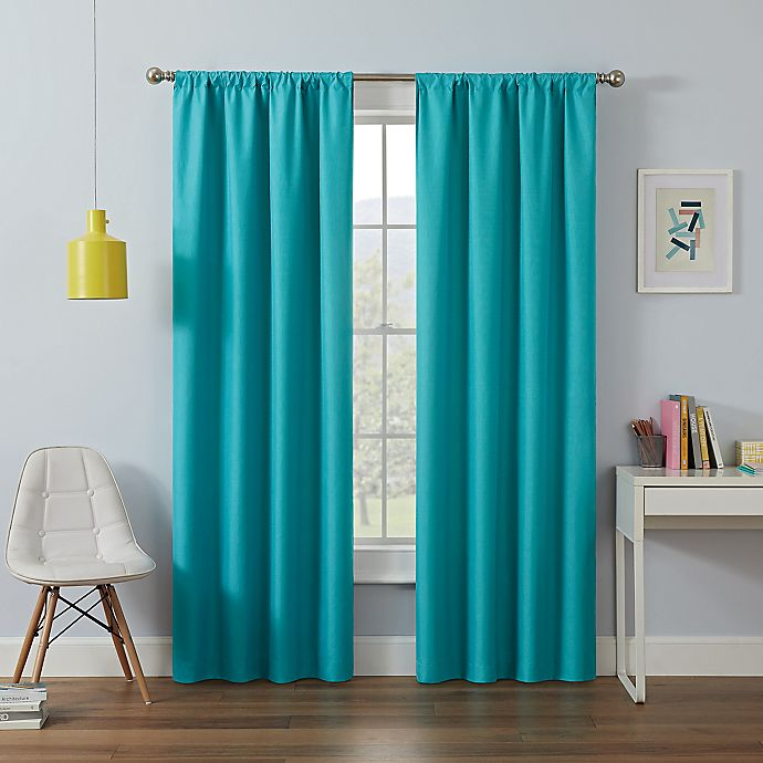Alternate image 1 for Eclipse Kendall Rod Pocket Room Darkening Window Curtain Panel and Valance
