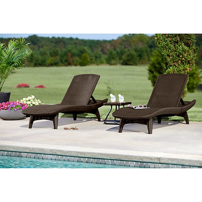 Alternate image 1 for Keter® Pacific Sun 3-Piece Lounger Set