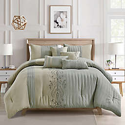 Elight Home Kaleen 7-Piece Queen Comforter Set in Grey