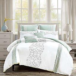 Elight Home Chaela 7-Piece King/California King Comforter Set in White