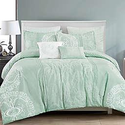 ESCA Home Delbine 7-Piece King/California King Comforter Set in Green